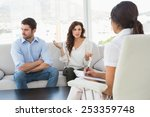 couple quarreling in front of... | Shutterstock . vector #253359748