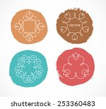collection of abstract... | Shutterstock .eps vector #253360483