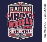 motorcycle racing typography  t ... | Shutterstock .eps vector #253365580
