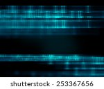 geometric abstract technology... | Shutterstock . vector #253367656