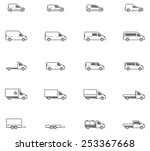 vector icon set representing... | Shutterstock .eps vector #253367668