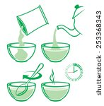cooking instruction for prepare ...   Shutterstock .eps vector #253368343