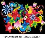 abstract flower background   | Shutterstock .eps vector #253368364