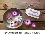 silver bowl with label with... | Shutterstock . vector #253374298