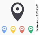 map pin icon   Shutterstock .eps vector #253386079