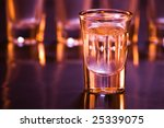 drink with shallow depth of field in bar - stock photo
