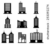 buildings icons | Shutterstock .eps vector #253392274