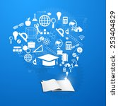 the concept of education ... | Shutterstock .eps vector #253404829