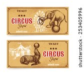 Vintage Circus Show Ticket Set...