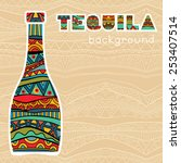 mexican background with fancy... | Shutterstock .eps vector #253407514