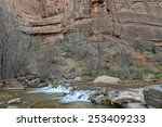 river in zion national park  ... | Shutterstock . vector #253409233