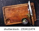 chopping cutting board ... | Shutterstock . vector #253411474