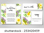wedding invitation cards with... | Shutterstock . vector #253420459