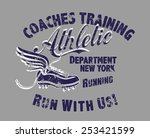 coaches training athletic... | Shutterstock .eps vector #253421599