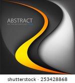 orange and yellow line... | Shutterstock .eps vector #253428868