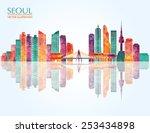 Seoul Detailed Skyline. Vector...
