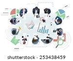 meeting information statistics... | Shutterstock . vector #253438459