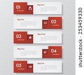 design clean number banners... | Shutterstock .eps vector #253459330