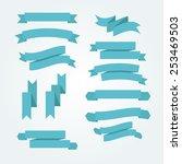 ribbons set. modern flat style... | Shutterstock .eps vector #253469503