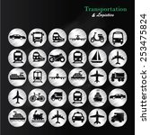 transport icons transportation... | Shutterstock .eps vector #253475824