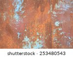 Old Grunge Rusty Zinc Wall For...