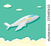 vector airplane icon. airplane... | Shutterstock .eps vector #253485610