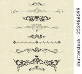 set of design elements and... | Shutterstock .eps vector #253486099