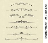 set of design elements and... | Shutterstock .eps vector #253486120