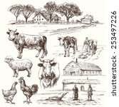Farm Animals   Hand Drawn...