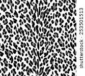 seamless leopard pattern. black ... | Shutterstock .eps vector #253501513