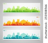 vector horizontal banners of... | Shutterstock .eps vector #253508566