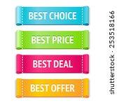 best fabric vector label set ... | Shutterstock .eps vector #253518166