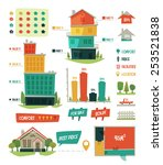 real estate. infographic... | Shutterstock .eps vector #253521838