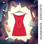 the best dress. vector... | Shutterstock .eps vector #253521970