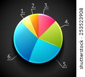 colorful shiny pie chart ... | Shutterstock .eps vector #253523908