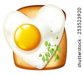 breakfast vector illustration ... | Shutterstock .eps vector #253523920