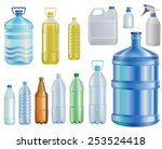 Water.set Of Different Bottles...