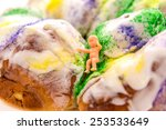 mardi gras king cake and baby | Shutterstock . vector #253533649