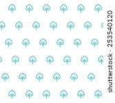 seamless patterns with fabric... | Shutterstock .eps vector #253540120