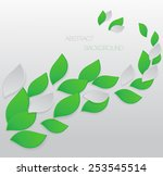green leaves abstract... | Shutterstock .eps vector #253545514
