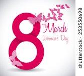 women's day design  vector... | Shutterstock .eps vector #253550698