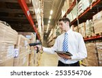 manager worker in warehouse...