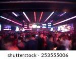 Stock photo blured background night scene in party night club 253555006