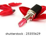 lipstick and petals | Shutterstock . vector #25355629
