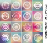 set of vintage badges. 16... | Shutterstock .eps vector #253591063