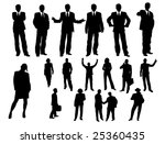 business silhouette | Shutterstock .eps vector #25360435