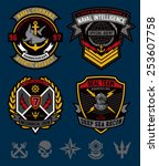 navy military patch set | Shutterstock .eps vector #253607758