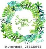Spring Floral Wreath....