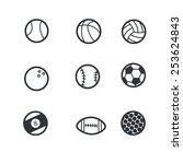 sport icon set | Shutterstock .eps vector #253624843