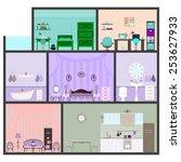 vector illustration of house... | Shutterstock .eps vector #253627933